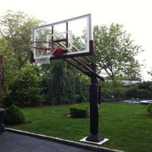 lifetime 44 pro court height-adjustable portable basketball hoop