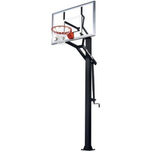 adjustable basketball hoop in ground