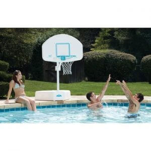 swimming pool basketball goal