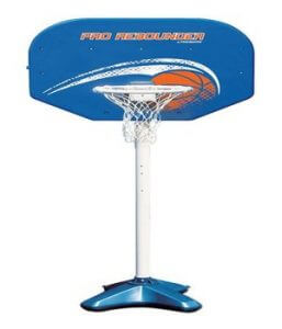 swimming pool volleyball and basketball set