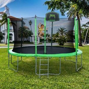 best trampoline with basketball hoop reviews