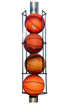 portable basketball storage rack